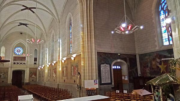 Chauffage rayonnant de l'église de La Haye Fouassiere