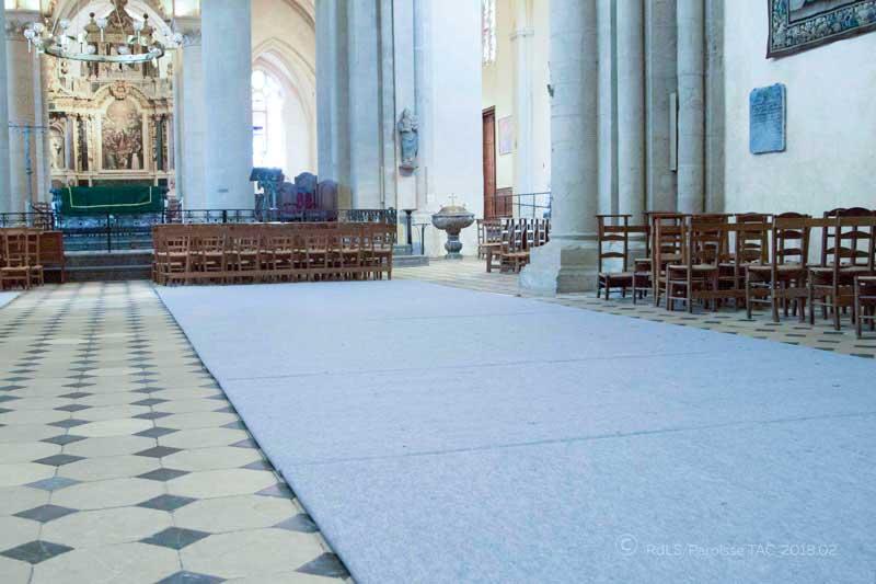 Tapis-chauffant Cathedrale de Laval © (copyright) Diocèse de Laval