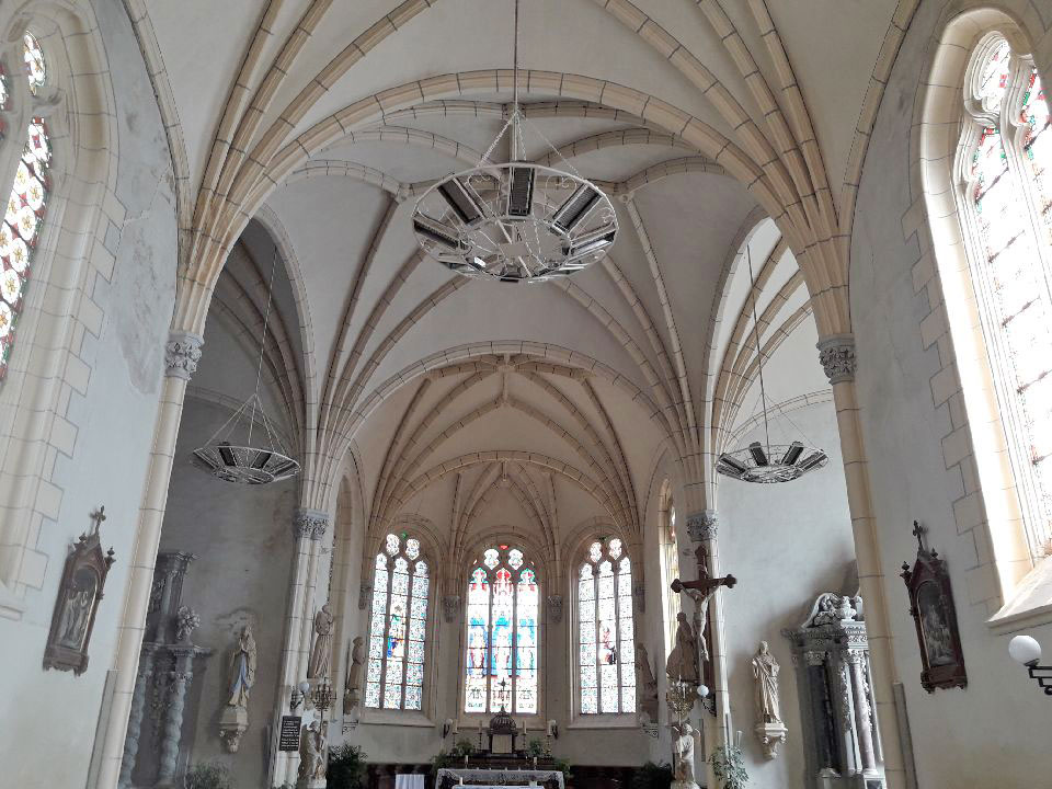 Nouveau chauffage pour l'église de Saint Aubin de Luigné