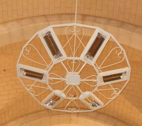 Lustre Electrique HELIOSA44V15-1217 avec volutes