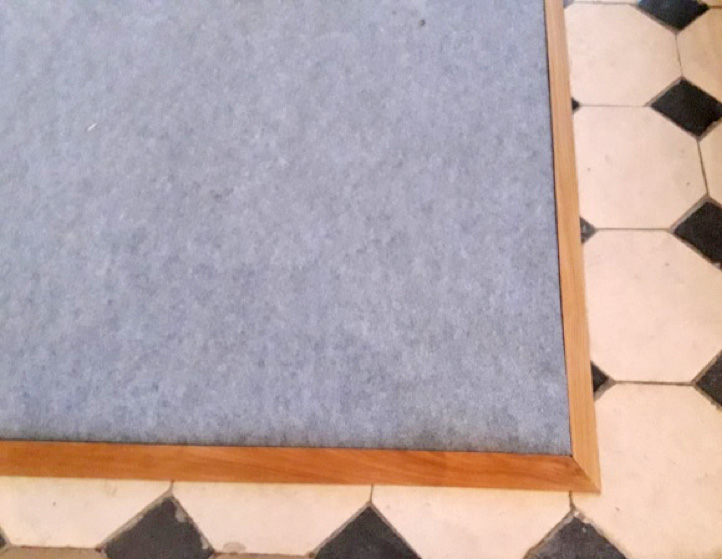 Moquette chauffante details