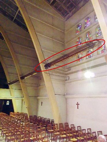 Nouveau chauffage pour l'église Notre Dame de l'Assomption ROYAN - Avant