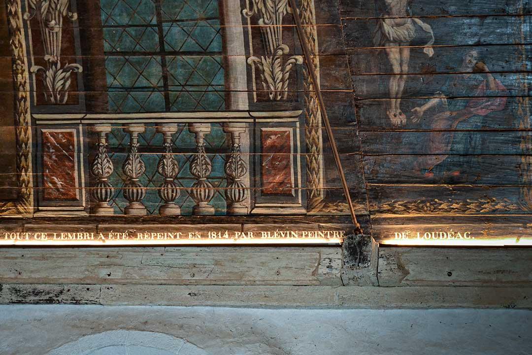 Mise en valeur des peintures et du mobiliers de Notre Dame de Carmés - Neulliac - 56
