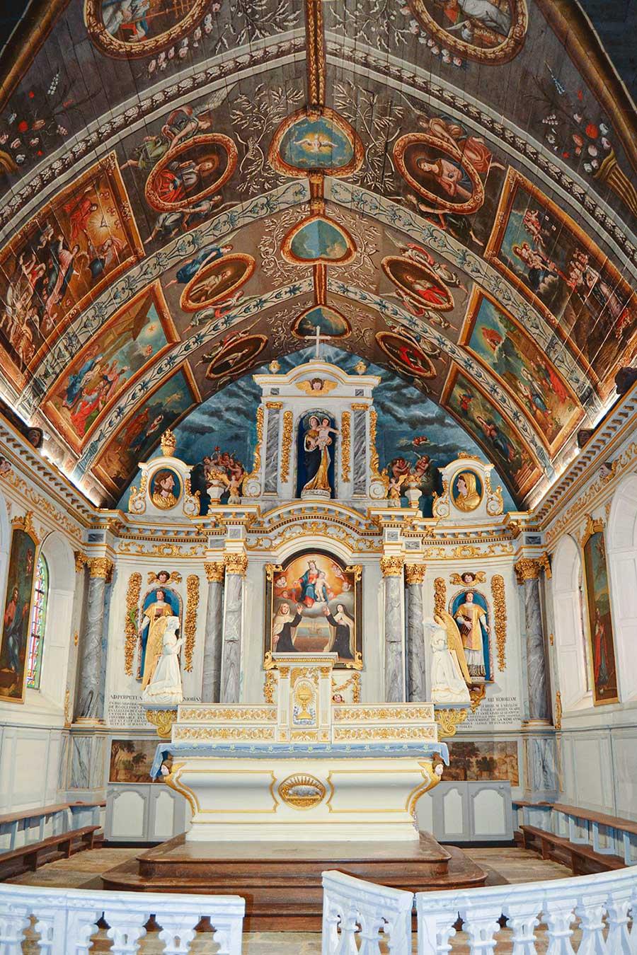 Réfection de l'éclairage de Notre Dame de Carmés - Neulliac - 56