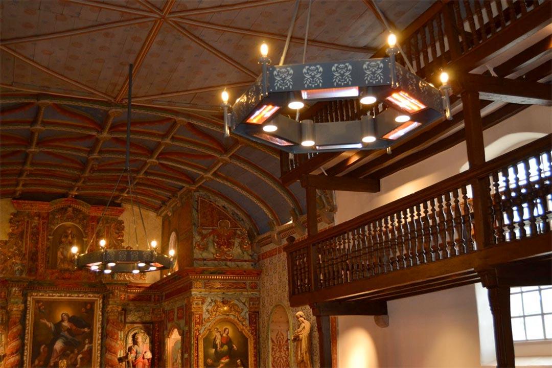 Travaux de chauffage réalisés dans l'église Notre Dame de l'Assomption à Louhossoa