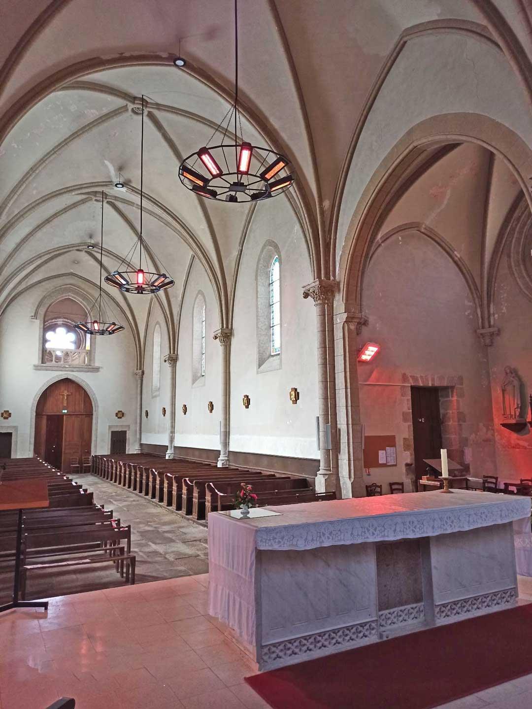 Eclairage de l'église de treize vents (85)