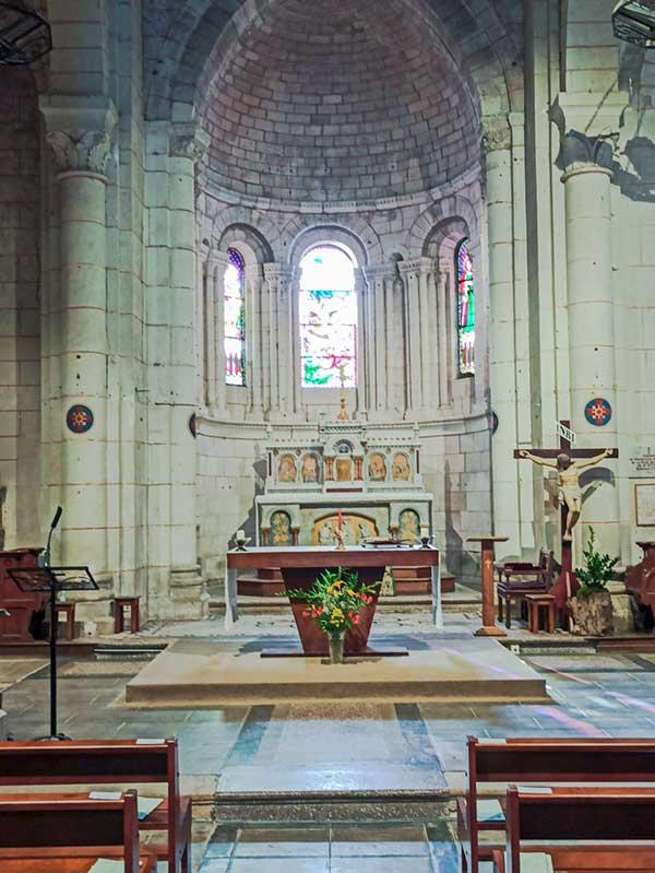 mise en lumière et conformité électrique de l'église Saint Georges